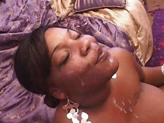 Ebony Fat Girl Facial!!!!!!!!!