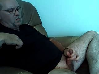 Beaded Dad Jerking Off And Shooting