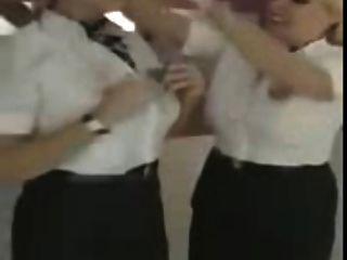 British Airways Stewardesses Strip-pair In Bath