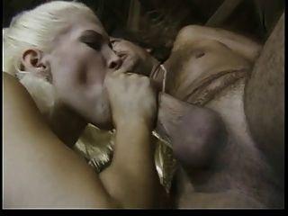 Caveman Looking Guy With Thick Dick Fucks Blonde Bimbo
