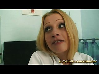 Nurse Rides Cock Like Crazy