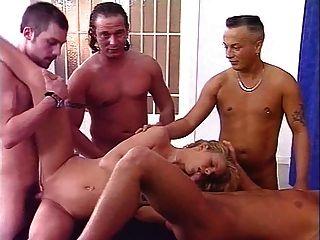 Monika Sommer Alias Natascha With Four Guys