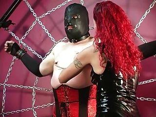 Mistress Melissa Punishes Crossdressed Sissy Slave