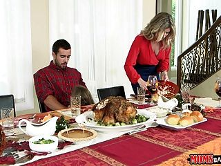 Moms Bang Teen  - Naughty Family Thanksgiving