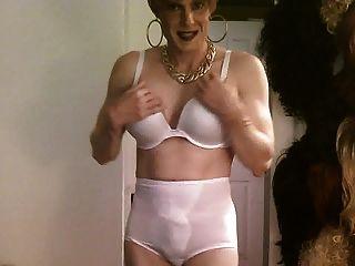 White Bra And Panties, Short Blonde Hair Cd