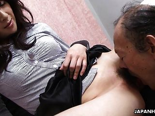 Old Man Is Eating That Wet Hairy Teen Pussy Up