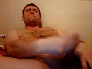 Russian Bear With Nice Curved Dick, Nice Cum
