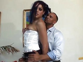 Gorgeous Crossdresser Gets His Cock Sucked