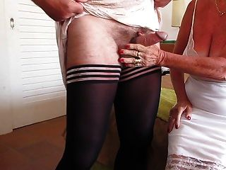 Wanking In Our Nylon Slips(wife And Me)