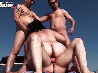 Fat Granny Gangbanged On The Boat In Public