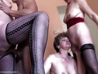 Old Hungry Mothers Sharing Young Boy S Cock