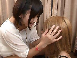 Subtitled Japanese Av Yuri Shinomiya Lesbian Cunnilingus