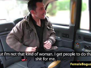 Busty Brit Cabbie Doggystyled On Her Backseat