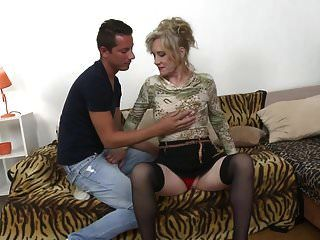 And boy mom mature Woman Filmed