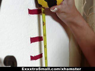 Exxxtrasmall - Tiny Teen Drinks Jizz To Grow Tall