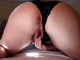 Neighbor With A Big Ass Fingering Her Little Pussy