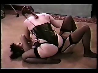Retro Moms Fighting In Lingerie