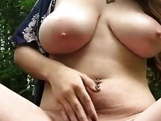Beautiful Big Chested Hippy Gets Off