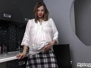 Preggo Lina Strips Nude And Masturbates!