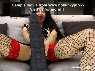 Hotkinkyjo & Seahorse Huge Dildo From Mrhankey