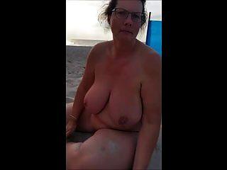 Dreamy Wife On The Beach