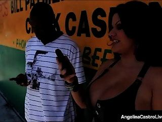 Cuban Bbw Angelina Castro Rammed By A Big Black Cock!
