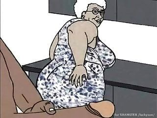 Black Granny Loving Anal! Animation Cartoon!