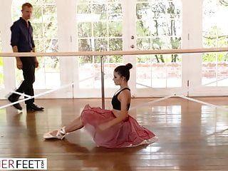 Perv Instructor Takes Advantage Of Bendy Ballerina