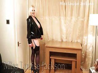 Louise Jackson In Pvc & Heels Stockings Suspenders