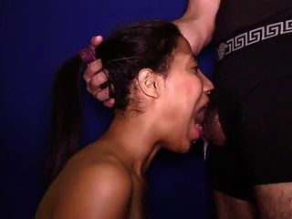 Brazilian Cutie With Braces Gets Facefucked